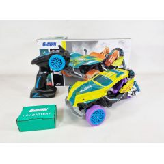 Drift Car RC Car Remote Control Stunt Car Three-Wheel Racing Vehicles with Spray Function for Boys Girls Kids Birthday Gifts