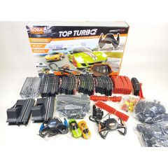 SOBA TOP TURBO 1:43 SCALE ELECTRIC RAIL TRACK SLOT CAR RACING 12M TRACK! ENGINE
