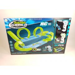 LARGE REMOTE CONTROL RC LOOP THE LOOP MODEL CAR SLOT CAR RACE TRACK GLOW IN THE
