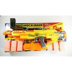 HEAVY SHOCKWAVE FULLY AUTOMATIC SOFT BULLET GUN 7003 EXTRA LARGE EMULATIONAL ELE
