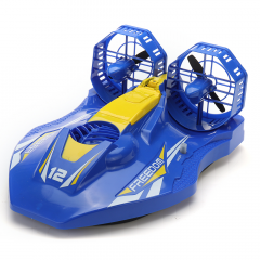 TKKJ A1 2.4G 4CH RC Twin-propeller Hovercraft EP Amphibious Boat Twin Motor