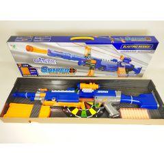 7004B ELECTRIC SNIPER SOFT BULLET GUN TOY LASER SIGHT 10 BURSTS CHILD FIGHT INTE